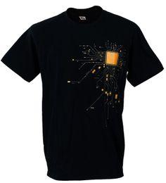 Canada CPU Chipset Coeur Matériel Nerd AMD Intel Art Graphique Numérique Banksy Homme T-ShirtBrand Coton Hommes Vêtements Homme Slim Fit T-shirt Offre
