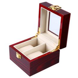 2019 relógios de baixa qualidade 2 grades de madeira caixa de relógio transparente capa de jóias caixa de organizador de alta qualidade baixo preço desconto relógios de baixa qualidade
