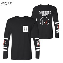 Veintiún pilotos t shirt online-MULYEN Twenty One Pilots camiseta camiseta de algodón de manga larga hombres mujeres tallas grandes ropa de la marca Camisas Femininas 2107
