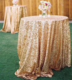 Wholesale Gold Table Confetti - Bling Bling Rose Gold Sequin Table Covers Wedding Sequin Table Cloth for Weddings In Stock Wholesale Champagne Confetti Table Sequin Linens