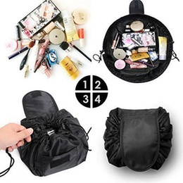 cosmetic wash bags wholesale Coupons - Vely Lazy Cosmetic Bag Drawstring Wash Bag Makeup Organizer Storage Travel Cosmetic Pouch Makeup Organizer Magic Toiletry Bag 9 COLOR BBA107