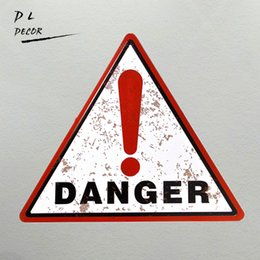 Wholesale Sticker Danger - DL-Tin Metal Sign DANGER POSTER Retro Plaque Art Wall Decor for living room outdoor wall printing