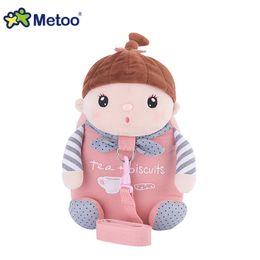 Wholesale soft plush backpacks for kids - New Arrival Cute Cartoon Bags Kids Doll Plush Backpack Toy Children Shoulder Bag for Kindergarten Girl Metoo Backpack