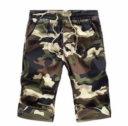 Wholesale Military Denim - 2018 New Camouflage Shorts Men Men's Cargo Military Bermuda Shorts Mens Denim Beach Board Shorts Boradshorts Short Jeans Male