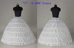 hoop petticoat ivory Promo Codes - New Style 2019 In Stock Plus Size Ball Gown 6 Hoop Wedding Bridal Petticoat Crinoline Underskirt Wedding Petticoats