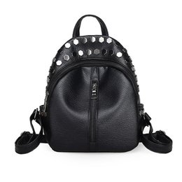 Wholesale Faux Fashion Backpack - Wholesale- Best Gift Women Fashion Rivet Travel Satchel School Bag Backpack 12122 Drop Shipping Wholesale