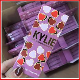 Wholesale lip gloss wholesale cosmetics - Kylie Matte Liquid Lipstick 3pcs Set Lip Gloss Makeup Velvet lip Kit Anniversary lip Trio By KYLIE Cosmetics Free DHL 113