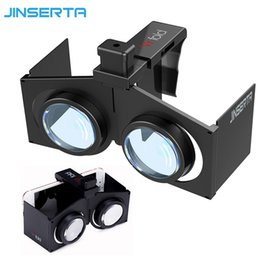 Wholesale Virtual Movies - JINSERTA VR Fold V1 Google Cardboard VR BOX Portable Foldable Virtual Reality 3D Glasses Movies Games for Android iOS