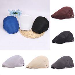 Berets Caps 2018 New Arrive Men Breathable Mesh Summer Hat Newsboy hat Ivy  Cap Cabbie Beret Irish Flat Cap Unise Sunscreen Hats 36f20f6ebfbf
