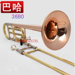 Wholesale Phosphor Bronze - Wholesale-Authentic 36BO bach trombone tenor trombone tone instrument b-f copper alloy tube copper phosphor bronze performance Profession