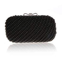 Mode New Prime Perles Sacs De Soirée Noir Perlée D'embrayage De Mariage Embrayages De Mariage Partie Dîner Sac À Main Chaînes Sac À Main ? partir de fabricateur