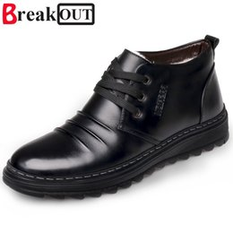 shoe broken toe Promo Codes - Break Out New Men Boots Winter Boots Snow Ankle Warm Plush Fashion Men Shoes