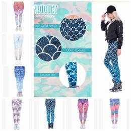 yoga pants disegni Sconti 13 design Leggings donna Pantaloni Yoga Mandala Fiore Stampa 3D Mermaid Slim Finess Esecuzione di allenamento Sport Legging Calzamaglia Pantaloni KKA5130