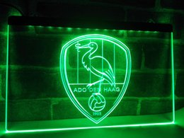 Wholesale Light Football Neon Signs - ZH002r- ADO Den Haag Netherlands Football LED Neon Light Sign