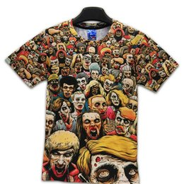 Wholesale Zombies T Shirt - T-Shirt New The Walking Dead Men T Shirts Walker Skull Zombies High Quality Crewneck Top Tees Short Sleeve Summer