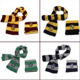 Bufanda Harry potter Gryffindor / Slytherin / Hufflepuff / Ravenclaw knitter neck scarf colors Disponible Cosplay regalo de Halloween desde fabricantes