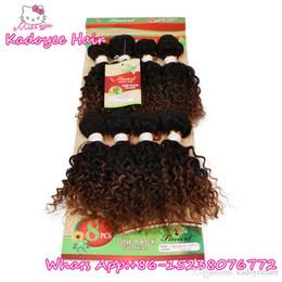 i riccioli allentati neri si intrecciano Sconti 8 pz per pacchetto umani brasiliani fasci di capelli jerry ricci crespi capelli ricci tessono ombre due pacchi per le donne nere whoelsale prezzo