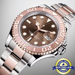 Wholesale Quality Dating - Super Quality Luxury brand Mens Watch 18K Rose gold Bezel Stainless Steel Strap Automatic Movement Watches Sapphire Glass Wristwatches