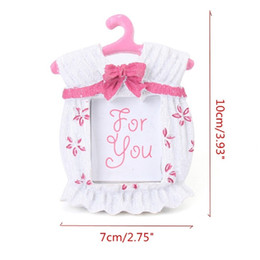 Wholesale cute picture frames - New Beautiful Fashion New Household Cute Pink Baby Clothes Picture Frame Baby Birthday Gifts