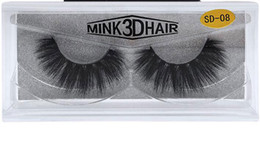 Wholesale Long Black Hair Extensions - Top quality 3D Mink lashes thick real mink hair false eyelashes natural for Beauty Makeup Extension fake eyelashes free shipping