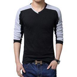 Wholesale V Neck Compression Shirt - T Shirt Homme 2018 Erkek Tshirt Mixed Colors Compression Shirt Mens Tshirt hot T-Shirt Homme Shirts Men Slim T-Shirt 5XL DHW