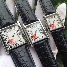 Argentina Reloj de pulsera Correa de cuero Reloj de acero inoxidable para hombres Números romanos Correa de cocodrilo negro cheap alligator watch straps Suministro