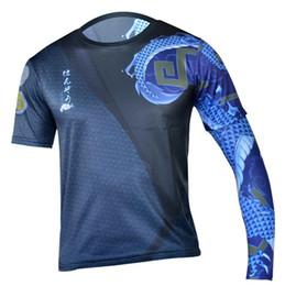 2018 Game OW Hanzo Cosplay juego de disfraces OW Hanzo impreso camisetas de hombre 3D manga corta Casual Fitness camisas desde fabricantes