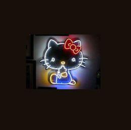 """Billard néon en Ligne-17 * 14 """"Cat Bow noël NEON SIGN Enseigne REAL GLASS BEER BAR PUB Affichage de magasin de billard Restaurant Boutique Signes Ampoule"""