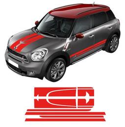 2019 3d ball window sticker Car Side Racing Stripes tronc capot / capot arrière moteur autocollant de décalque autocollant pour MINI Cooper Countryman 2013-2016 - 4 couleurs