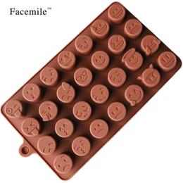 outil tranchant Promotion Facemile Emoji Chocolat Moule En Silicone Pour Gâteau Biscuits Moule Accessoires De Cuisson De La Fondante Bonbons Silicone DIY Moules