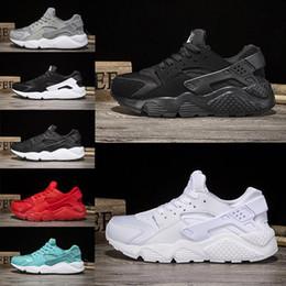 Wholesale Air Concrete - Wholesale Air Huarache run man womens Triple black white oreo red grey huraches sport shoe running shoes trainer shoes Huaraches sneaker