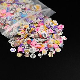 Wholesale Fimo Polymer Clay - DIY 2000Pcs set Nail Art Decorations Animal Slices 3D Polymer Clay Tiny Fimo Nail Art Rhinestones Acrylic Decoration Manicure