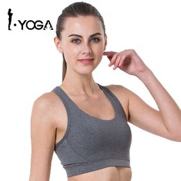 475917aa92 2017 Rushed Strappy Bra Cropped Women Yoga Bra Athletic Built-in Pad Sports  For Push Up Tank Top For Girls Ropa Deportiva 15004