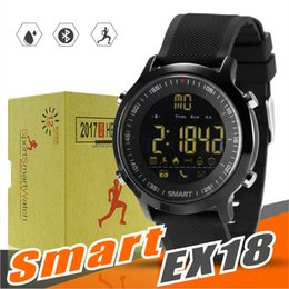 Wholesale home sms control - EX18 Smart Watch Sport Smartwatch Pedometer Bluetooth Wristwatch Activity Tracker IP67 Waterproof Support Call and SMS alert for IOS Android