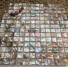 Wholesale pearl tile backsplash - shell mosaic mother of pearl natural colorful kitchen backsplash wallpaper tile bathroom background shower decorative wall tiles