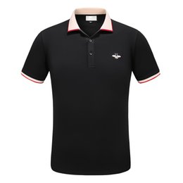 Wholesale cotton express clothing - Express 2018 New Mens Casual short sleeve Polo Shirts plus size 3XL Solid Polos black Clothing Tops Tee 3xl