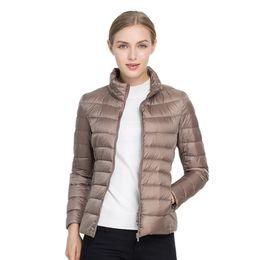 Wholesale Light Pink Women S Coat - Women Winter Coat 2018 New Ultra Light 90% White Duck Down Jacket Slim Women Winter Puffer Jacket Portable Windproof Coats Down