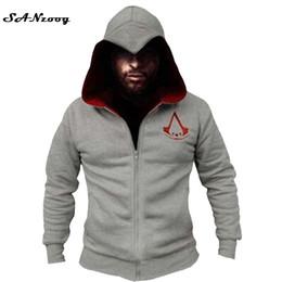 Wholesale Cool Hooded Sweatshirts - Fashion Men Assassins Creed Hooded Sweatshirt Hombre Autumn Winter Solid Hoodie Sweatshirts Men Cosplay Chadal Cool Clothing 3xl