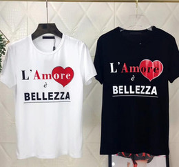 Wholesale g love - love letter printed loose T-shirt Europe stands for the spring summer 2018 spring summer casual wear jacket G.
