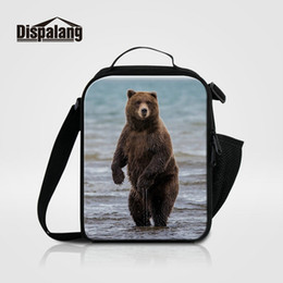 Wholesale Children Working - Oxford Thermal Lunch Bags For School Adults Food Cooler Bag For Work Bear Animal Printing Insulated Picnic Lunch Box Bag Child Bolsa Termica