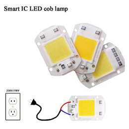Wholesale cob floodlight - LED COB Lamp Chip 5W 20W 30W 50W 220V Input Smart IC Driver Fit For DIY LED Floodlight Spotlight Cold Warm White