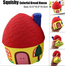 Wholesale Cute Houses - Squishy Lovely House 12.5cm Soft Slow Rising Cute Kawaii Collection Gift Decor Toy EEA146 20pcs