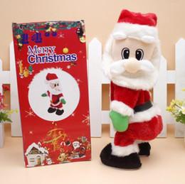 Canada Nouveau drôle de père Noël électrique Twisted Ass poupées avec musique cadeau de Noël pour les décorations de Noël pour enfants supplier ass doll Offre