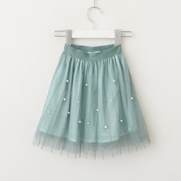 Wholesale Baby Girl Denim Blouse - Vieeolove Baby Girls Tutu Tulle Skirts Kids Party Lace 2018 Summer Bead Princess Cake Skirts EE-232
