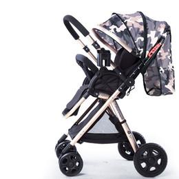 легкие детские коляски Скидка High Landscape Children Trolley Bi-directional Baby Umbrella Cart Sit Lie 6.8KG Portable Light Pushchairs Folding Poussette Pram