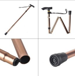 Wholesale carbon canes - Aluminum Alloy Adjustable Canes Camping Hiking Mountaineer Walking Sticks Pole Stick Folding Collapsible Travel Cane Non-slip EEA47