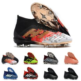 huge discount d212b 048d1 2019 Predator Ace 18+ Tacos de fútbol Copa del mundo Telstar Firm Tacos de  tierra Botas de fútbol para hombre Zapatos de fútbol Paul Pogba Zapatos de  ...