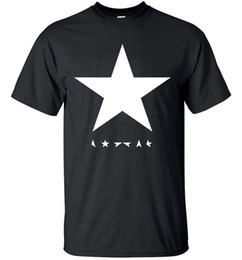 Wholesale Posters Hip Hop - Camping T-Shirts Men's T-Shirts summer David Bowie heroes black star posters streetwear hip hop t shirts Cotton men T-shirt Tops Tees h