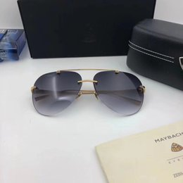 Wholesale Titanium Frame Sunglasses Men - Luxury Car Brand Maybach RG-WU-Z18 Sunglasses 18K Gold Plated Sunglasses Pilot Frame Spring Temples Men Brand Designer Come With Package
