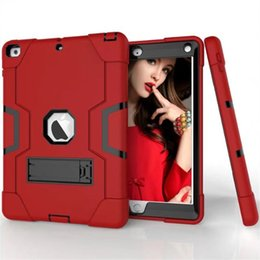 tablet pc protective case Promo Codes - For New iPad 9.7 Case 2017 Tablet Pc Case For iPad Robot Kickstand Case Pc Tpu Silicone Hybrid Shockproof Protective Cover